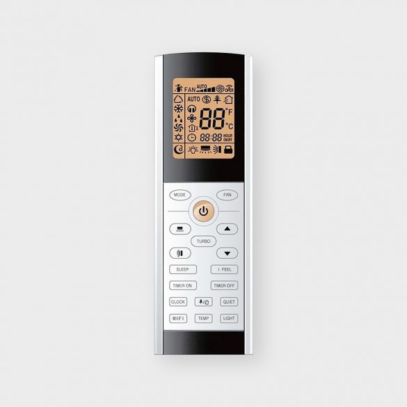 Gree GWH09ACC Dark X 2,6 kW-os Wifi-s klíma szett, A++